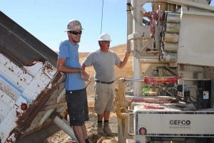 Drilling water wells in Lockwood